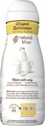 Coffee-mate Natural Bliss Whipped Butter Cream Liquid Coffee Creamer Perspective: left