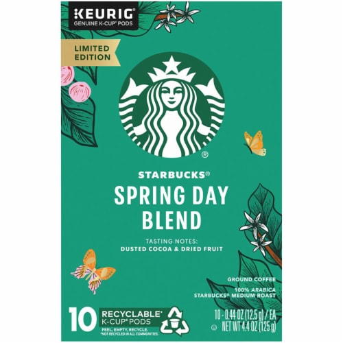 Starbucks Spring Day Blend Medium Roast Coffee K-Cup Pods Perspective: left