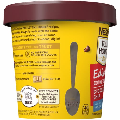 Nestle Toll House Chocolate Chip Edible Cookie Dough Perspective: left