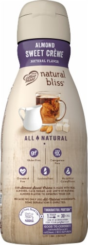 Coffee-mate Natural Bliss Almond Sweet Creme Coffee Creamer Perspective: left