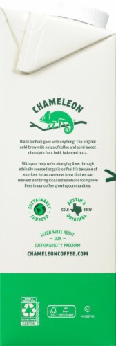Chameleon Organic Cold-Brew Black Coffee Concentrate Perspective: left