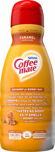 Coffee-mate Caramel Liquid Coffee Creamer Perspective: left