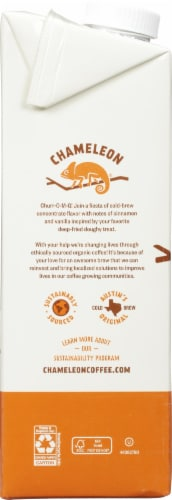 Chameleon Organic Cold Brew Churro Flavored Unsweetened Instant Coffee Perspective: left