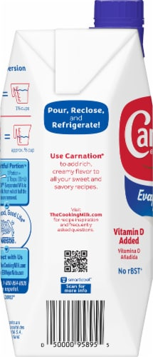 Carnation Evaporated Milk Perspective: left