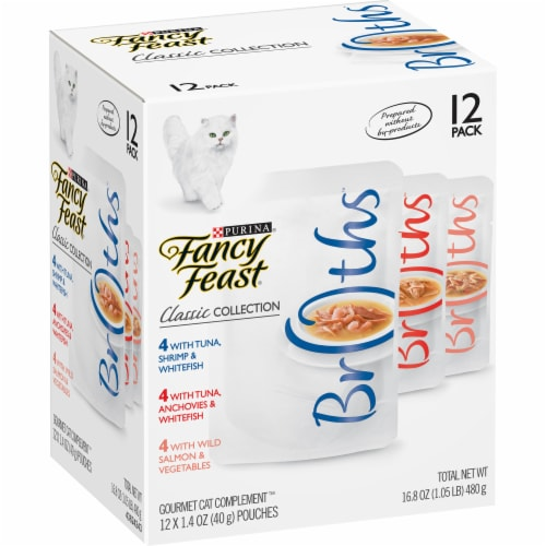 Fancy Feast Classic Collection Variety Pack 12 Count Perspective: left