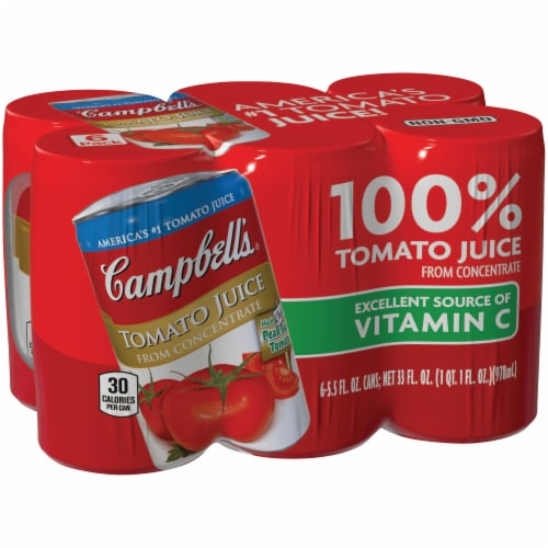 Campbell's Tomato Juice from Concentrate 6 Count Perspective: left