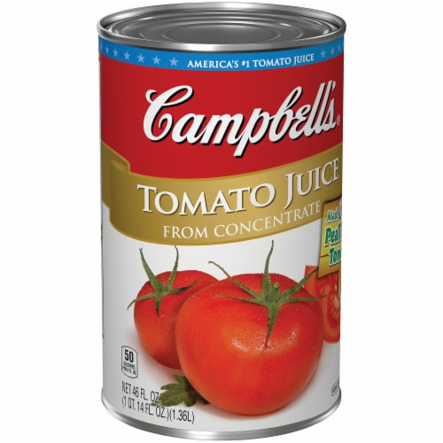 Campbell's Tomato Juice From Concentrate Perspective: left