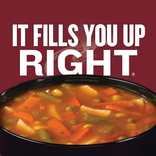 Campbell's Chunky Savory Vegetable Soup Perspective: left