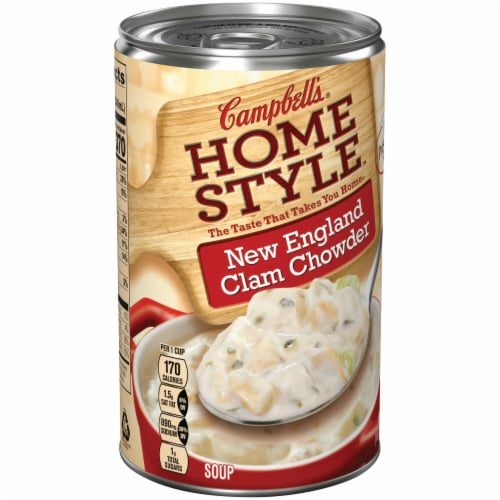 Campbell's Homestyle New England Clam Chowder Perspective: left