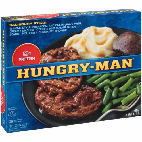 Hungry-Man Salisbury Steak Frozen Meal Perspective: left
