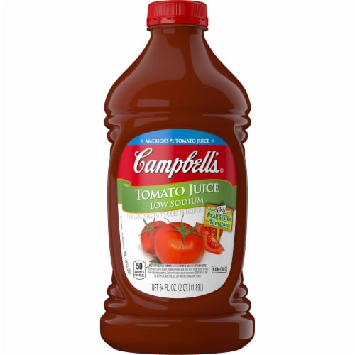 Campbell's Low Sodium Tomato Juice Perspective: left