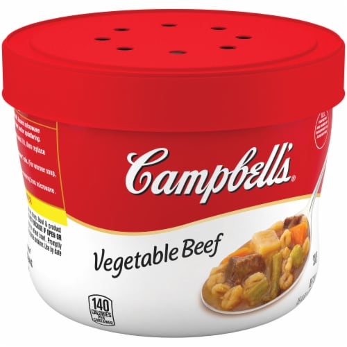 Campbell's Vegetable Beef Microwavable Condensed Soup Perspective: left