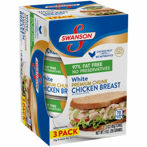 Swanson White Meat Chicken Breast Perspective: left