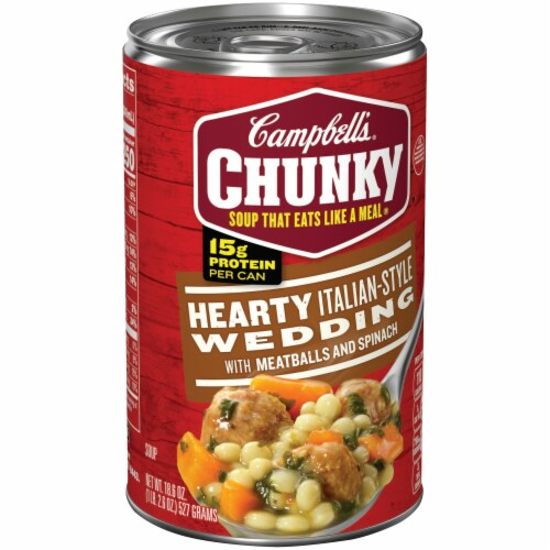 Campbell's Chunky Hearty Italian-Style Wedding Soup Perspective: left