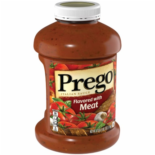 Prego Meat Italian Pasta Sauce Perspective: left