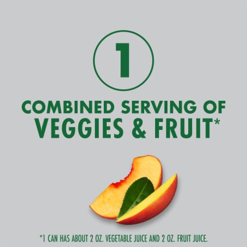 V8 +Energy Peach Mango Juice Blend Perspective: left