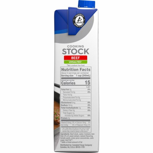 Swanson Unsalted Beef Stock Perspective: left