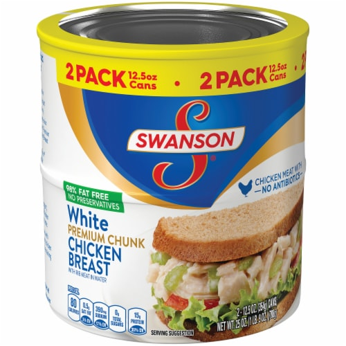 Swanson White Premium Chunk Canned Chicken Breast Perspective: left
