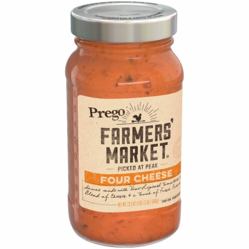 Prego Farmers' Market Four Cheese Sauce Perspective: left