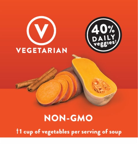 Campbell's® Well Yes! Butternut Squash & Sweet Potato Sipping Soup Perspective: left