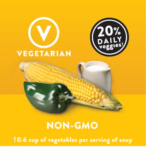 Campbell's® Well Yes! Sweet Corn and Roasted Poblano Sipping Soup Perspective: left