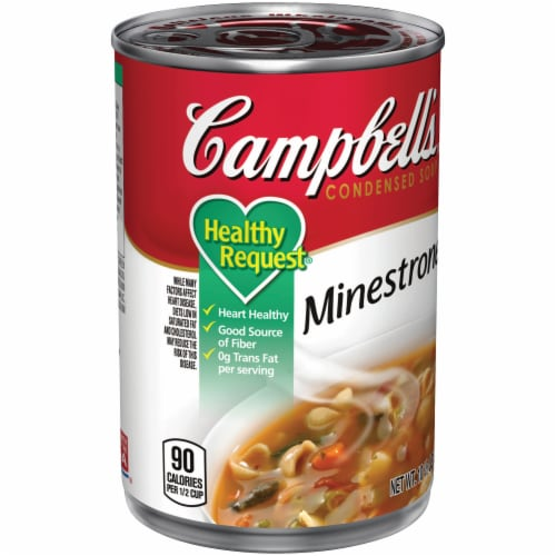Campbell's Healthy Request Minestrone Condensed Soup Perspective: left