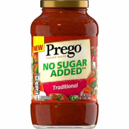 Prego No Sugar Added Traditional Italian Sauce Perspective: left