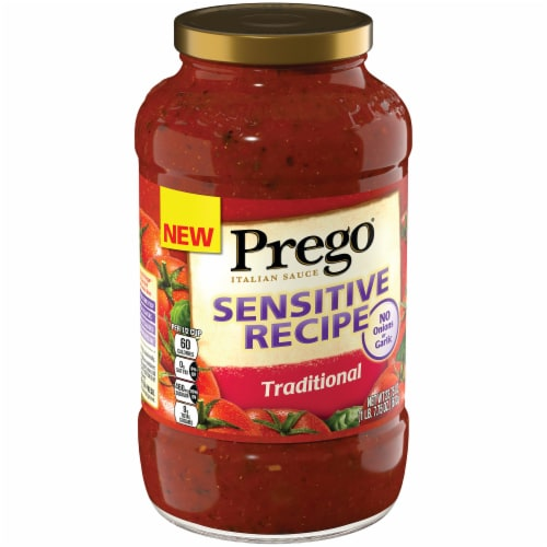 Prego Sensitive Recipe Traditional Italian Sauce Perspective: left