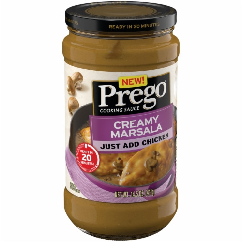 Prego Creamy Marsala Cooking Sauce Perspective: left