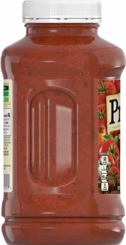 Prego Flavored with Meat Italian Sauce Perspective: left