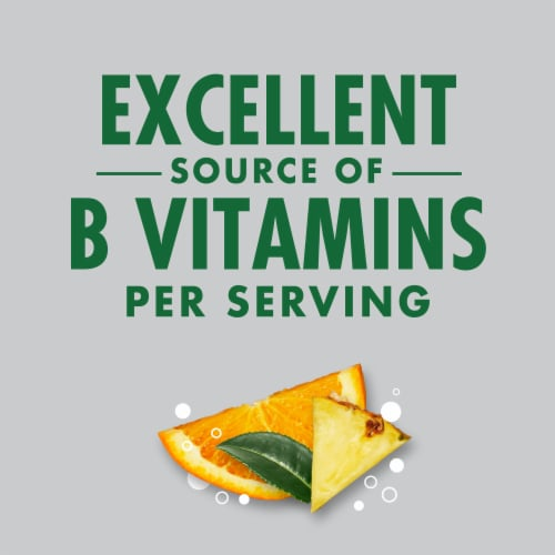 V8 Orange Pineapple Sparkling Juice Drink Perspective: left