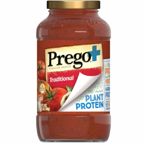 Prego Plus Protein Traditional Sauce Perspective: left