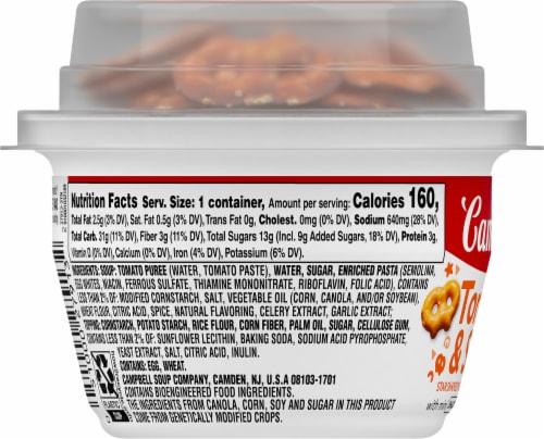 Campbell's® Tomato & Stars with Mini Pretzel Crisps Soup Perspective: left