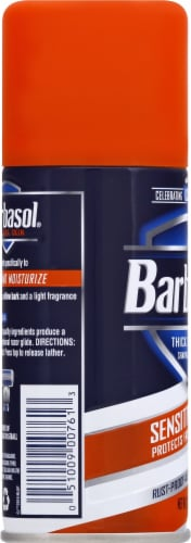 Barbasol Sensitive Skin Shaving Cream Perspective: left