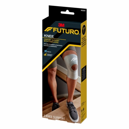 Futuro Comfort Knee Support with Stabilizers Perspective: left