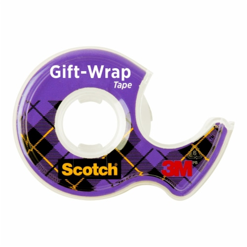 Scotch® Satin Finish GiftWrap Tape - Clear Perspective: left