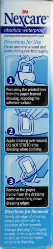 Nexcare Absolute Waterproof Sterile Adhesive Pads Perspective: left