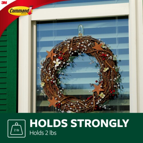 Command™ Outdoor Damage-Free Window Hooks Value Pack Perspective: left