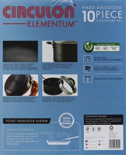 Circulon Elementum Hard-Anodized Nonstick Cookware Set - Gray Perspective: left