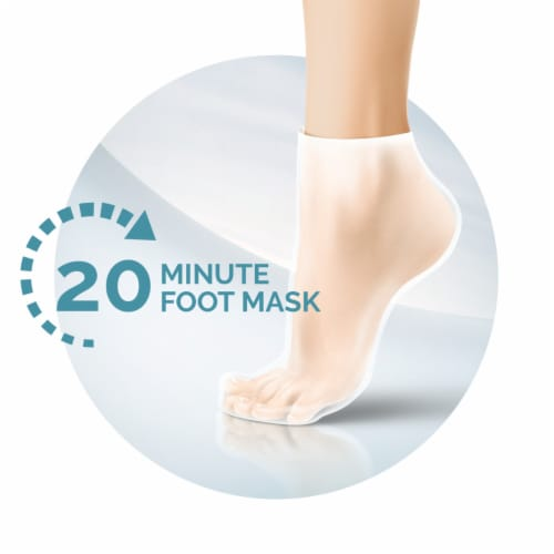 Amope Pedimask Coconut Oil Foot Sock Mask Perspective: left