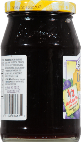 Smucker's Low Sugar Concord Grape Jelly Perspective: left
