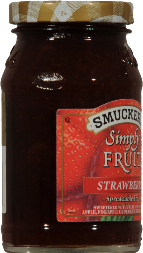 Smucker's Simply Fruit Strawberry Spread Perspective: left