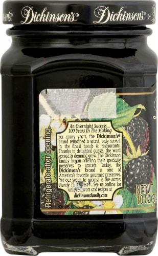 Dickinson's Pure Seedless Black Raspberry Preserves Perspective: left