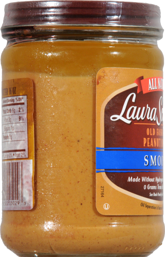 Laura Scudder's All Natural Smooth Old Fashion Peanut Butter Perspective: left
