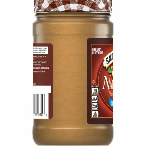 Smucker's Natural Creamy Peanut Butter Perspective: left