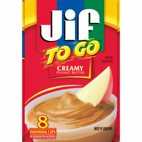 Jif To Go Creamy Peanut Butter Cups Perspective: left