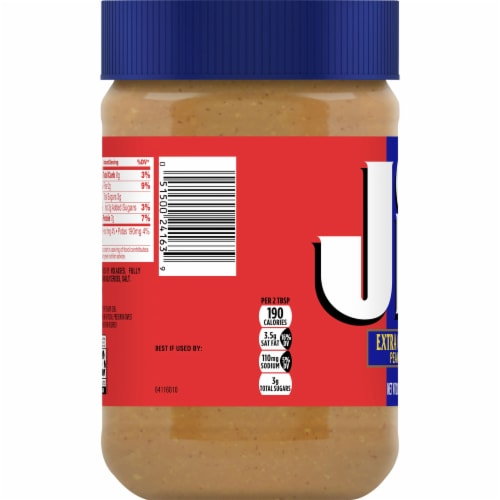 Jif Extra Crunchy Peanut Butter Perspective: left