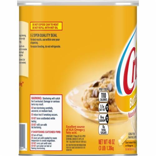 Crisco® Butter Flavor All-Vegetable Shortening Perspective: left