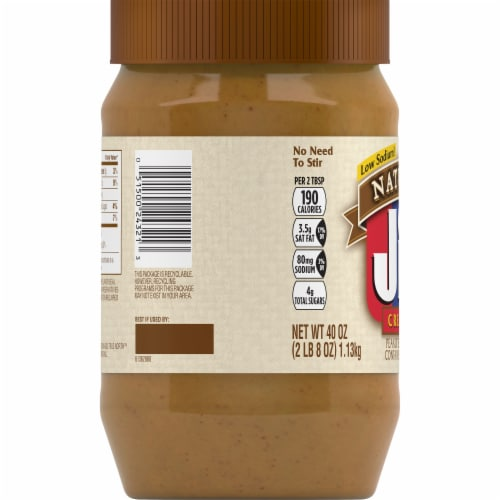 Jif Natural Creamy Peanut Butter Spread Perspective: left