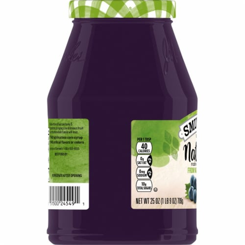 Smucker's Natural Concord Grape Fruit Spread Perspective: left